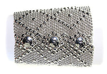 Bracelet B11-N SG Liquid Metal by Sergio Gutierrez - 3 sizes - SG pouch and cleaning cloth included.Chrome plated (8 Inches)