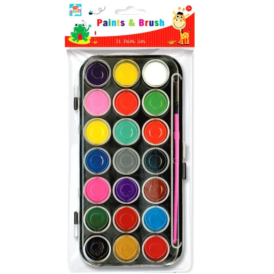 Paints & Brush Set