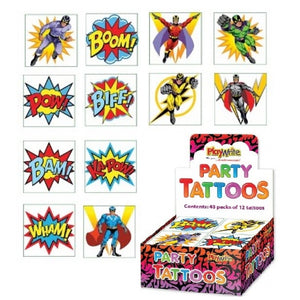 Super Hero Temporary Tattoos