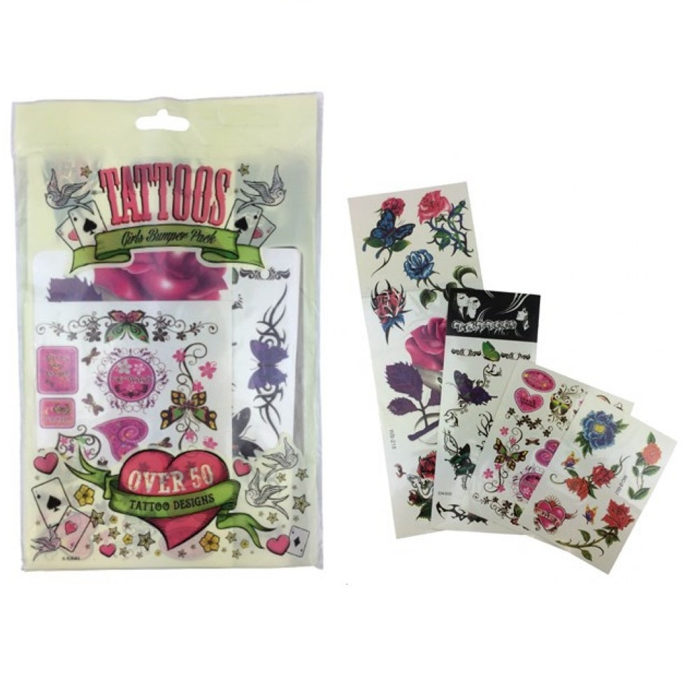 Girls Bumper Pack Tattoos 50+