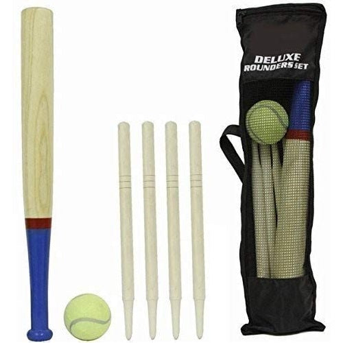 Deluxe 6 Piece Wooden Rounders Set & Carry Bag