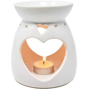 Large Ceramic Oil Burner (White)