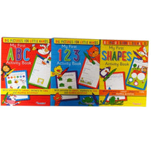 My First Activity Books Set- ABC , 123 , Shapes