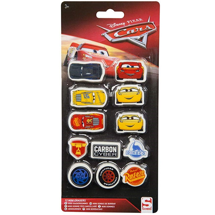 Disney Pixar Cars Mini Erasers