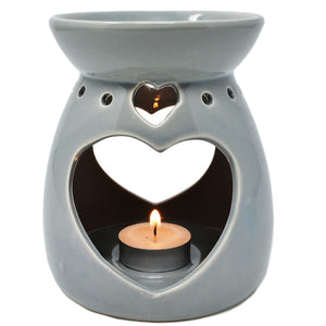Large Ceramic Oil Burner (Grey)