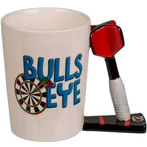 Novelty 3D Dart Handle Bulls Eye Design Coffee Mug