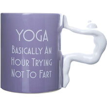 "Yoga Mug ""Basically An Hour Trying Not To Fart"""
