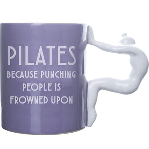 "Pilates ""Punching People"" Mug"