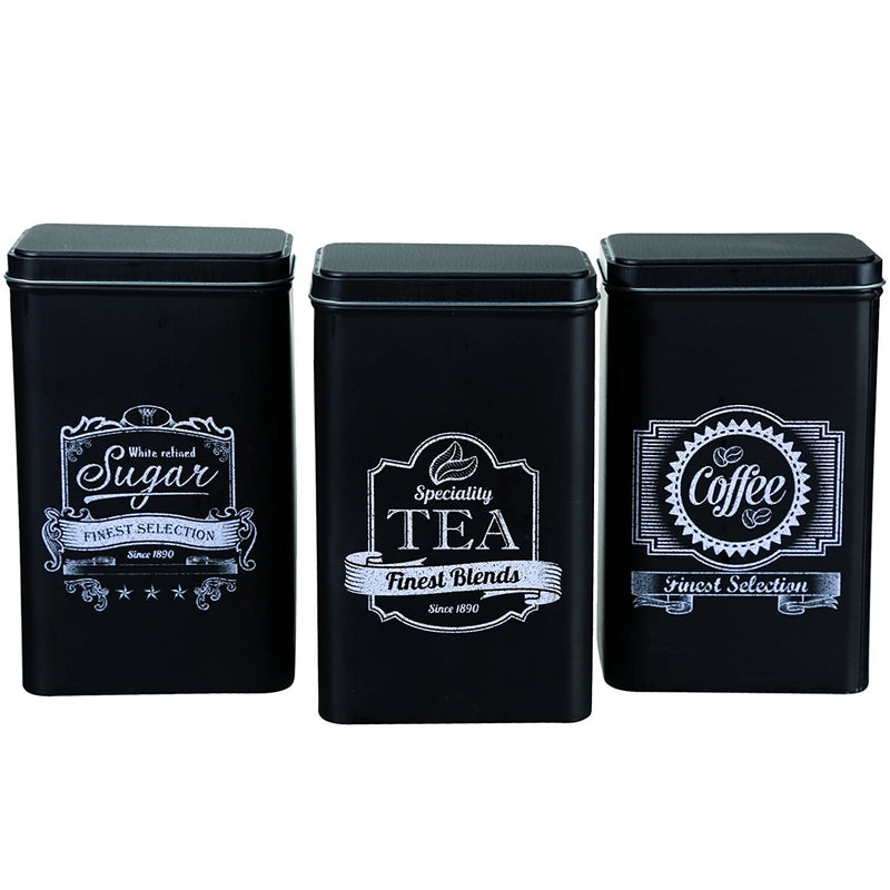 Tea Sugar Coffee Storage Tins