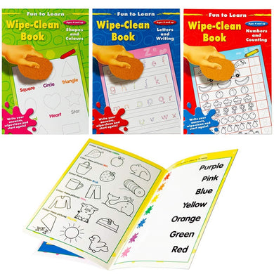 Wipe Clean Learning Books (Set of 3)