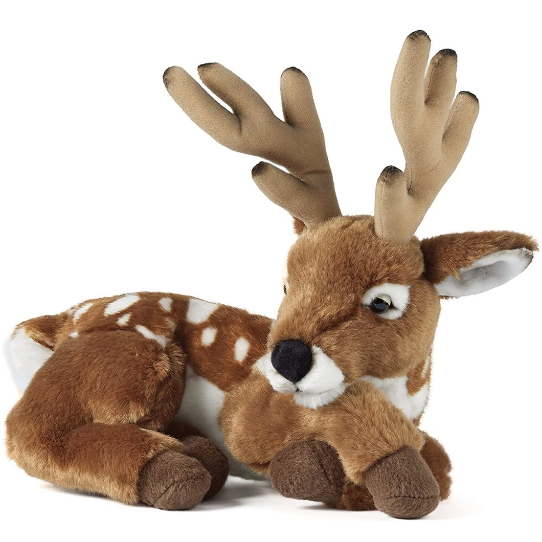Living Nature Deer With Antlers Soft Toy 28cm