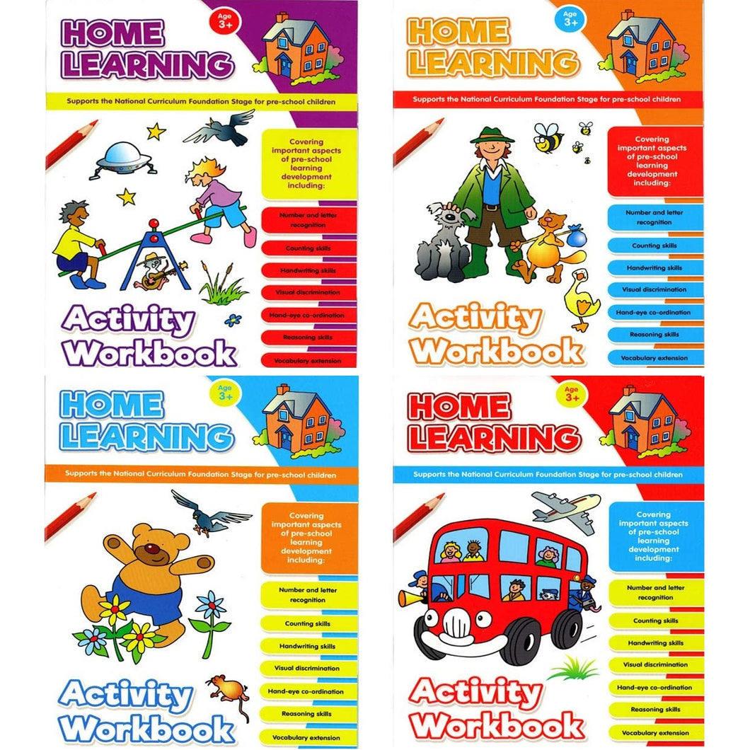 4 X Kids National Curriculum Foundation Pre-School Books 3-5 Yrs