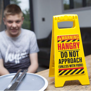 HANGRY Desk Warning Sign