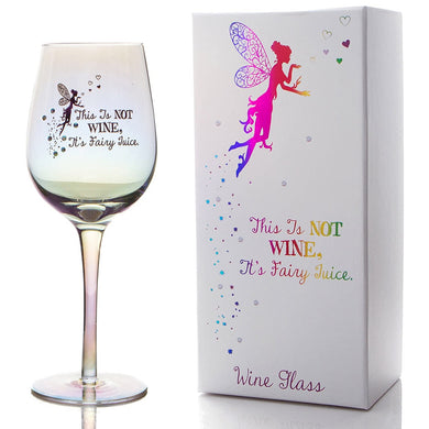 Deluxe Wine Glass Fairy Design With Gems