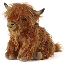 Living Nature Highland Cow Soft Toy With Sound 30cm