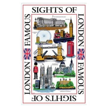 Sights of London Tea Towel