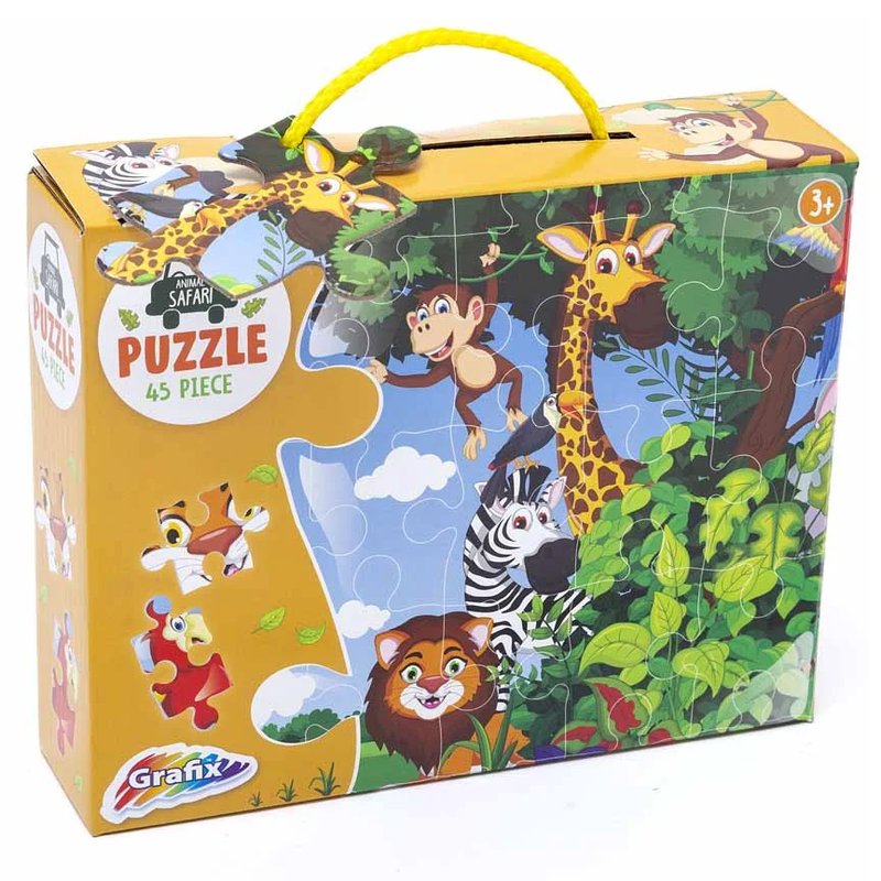 Animal Safari Jigsaw Puzzle (45 Piece)