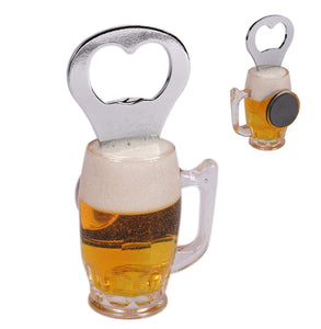 Beer Glass Magnetic Bottle Opener