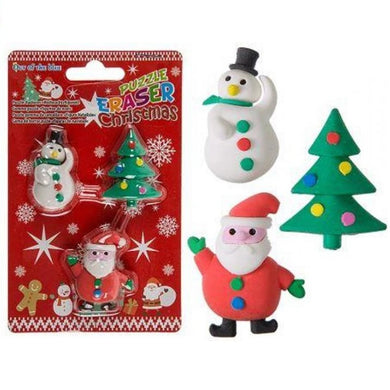 Christmas Puzzle Erasers