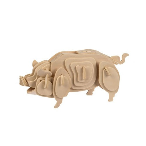 Pig Wooden 3D Construction Puzzle