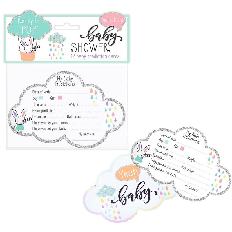 Baby Shower 12 Baby Prediction Cards