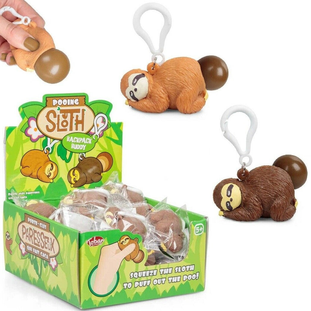 Squeeze Poo Sloth Keyring