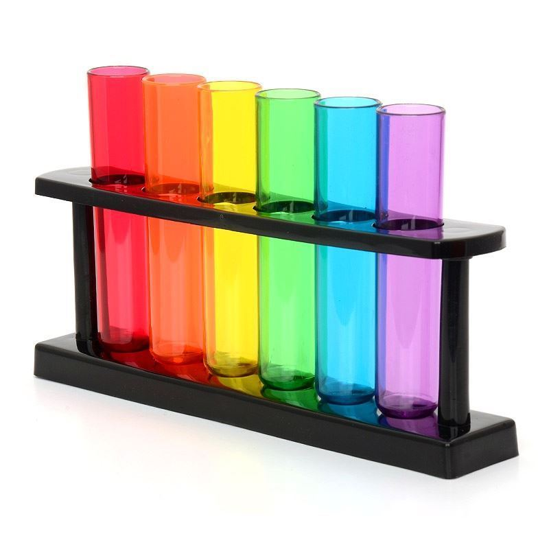 2 Packs of Test Tube Shot Glasses and Stand (12 Test Tubes)