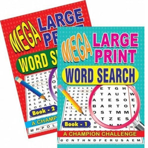 2 Mega Large Print Word Search