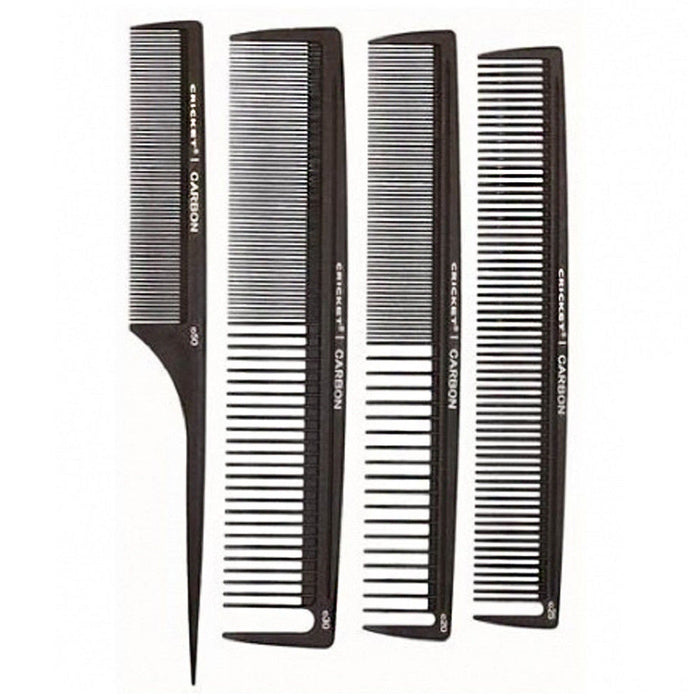 Cricket - Carbon Combs Stylist 4 Pack (1 of Each)