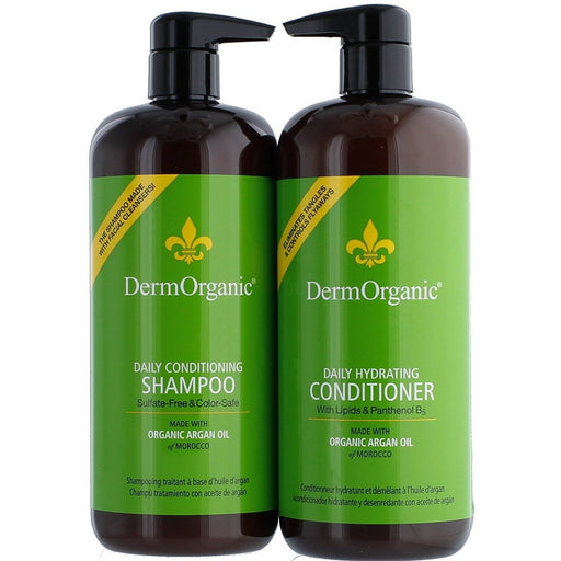 Derm Organic Liter Duo Daily Double:..1-Daily Conditioning Shampoo 32oz..1-Daily Conditioner 32oz