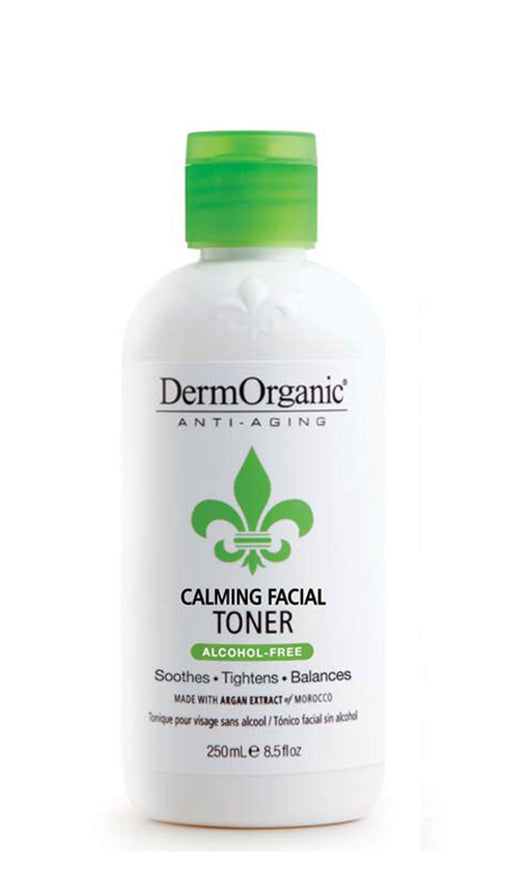 DermOrganic Calming Facial Toner with Moroccan Argan Extract 4 Fl Oz. 1.5 mm Derma Micro Needle Face & Body Roller Skin Care Tool (192 Needles) For Wrinkles, Scars, Stretch Marks, Skin Rejuvenation and Cellulite Treatment
