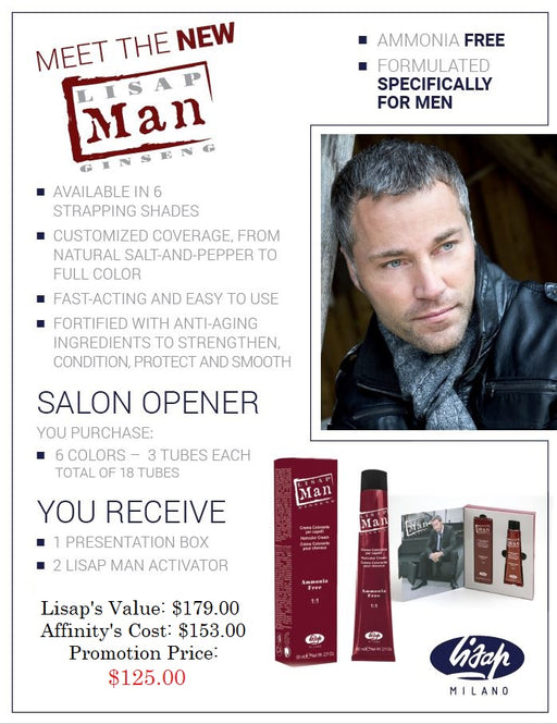 Lisap Milano Men's Color Promotion