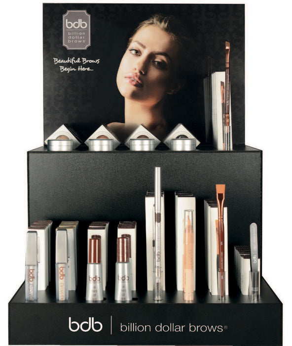 Tiered Retail Starter Kit:..4 - Brow Boost + 1 Tester..4 - Brow Gel + 1 Tester..4 - Universal Brow Pencil + 1 Tester..4 - Brow Duo Highlighter + 1 Tester..4 - Brow Powder Blonde + 1 Tester..4 - Brow Powder Lt Brown + 1 Tester..4 - Brow Powder Taupe + 1...