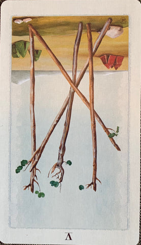 Wednesday: Five of Wands, reversed
