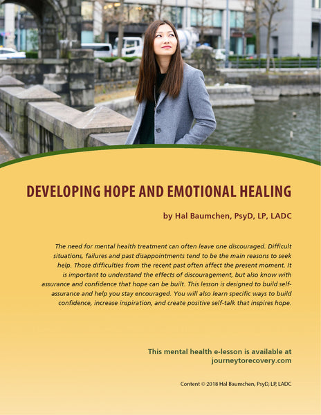 Developing Hope and Emotional Healing