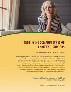 Identifying Common Types of Anxiety Disorders