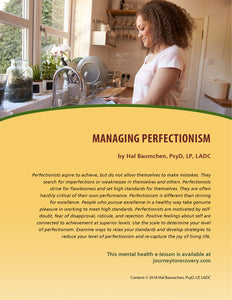 Managing Perfectionism