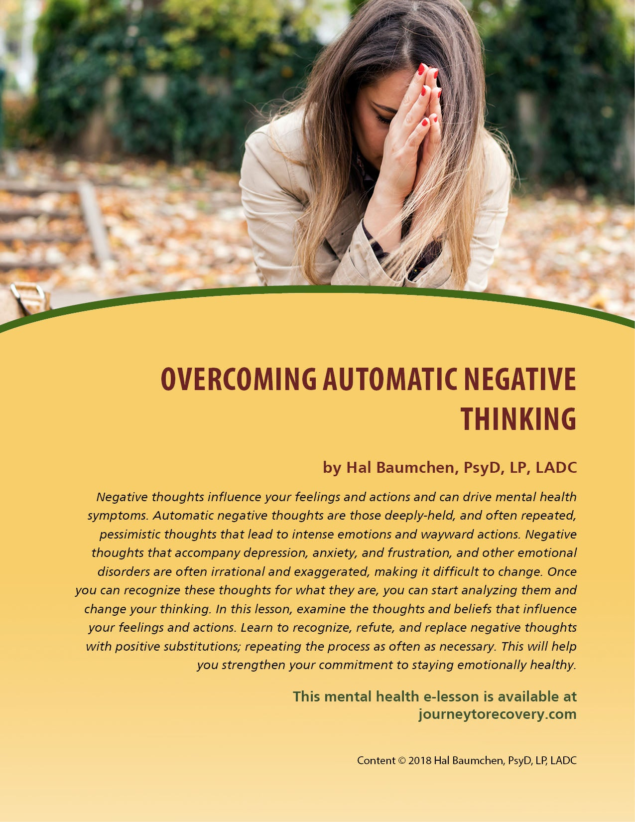 Overcoming Automatic Negative Thinking