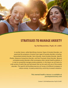 Strategies to Manage Anxiety