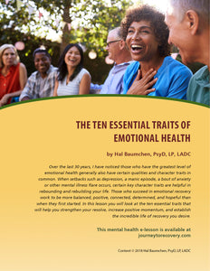 The Ten Essential Traits of Emotional Health