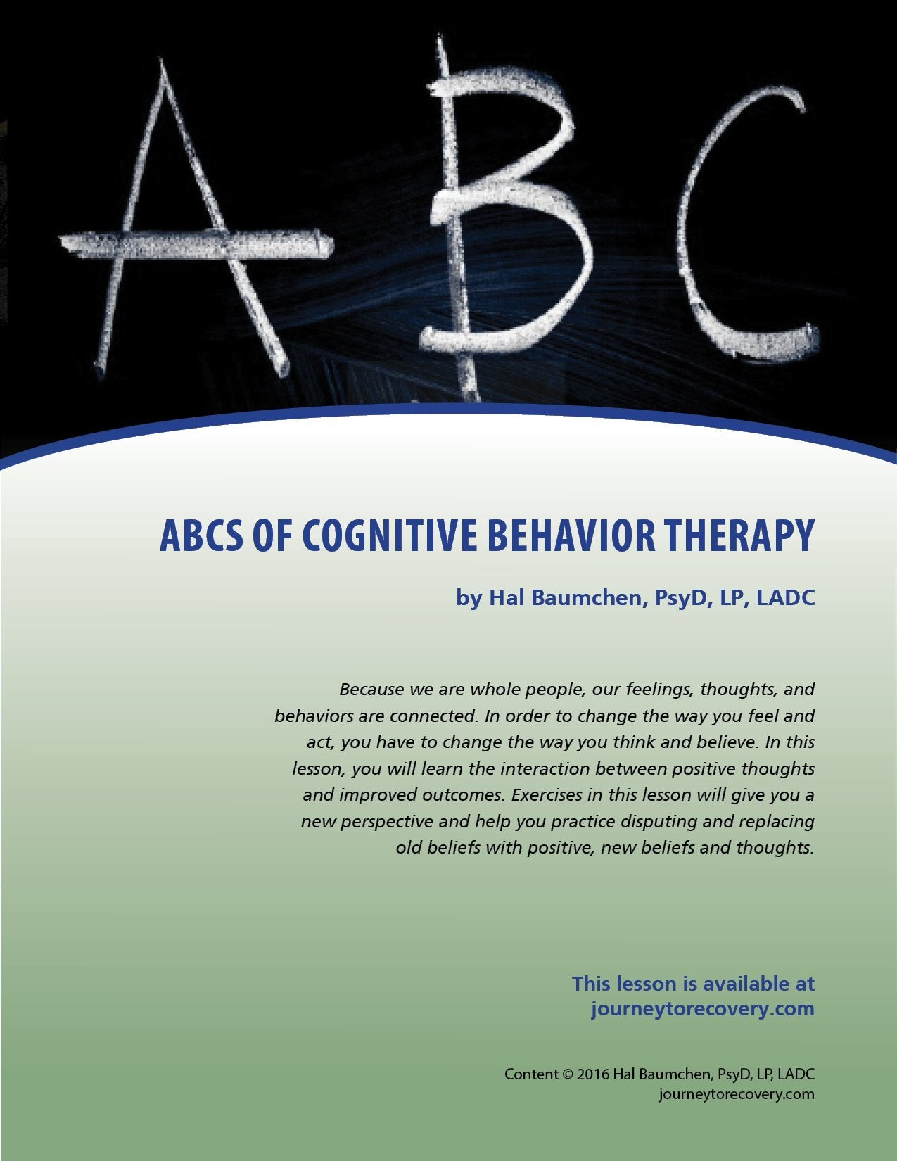 ABCs of Cognitive Behavioral Therapy
