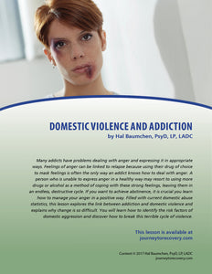 Domestic Violence and Addiction