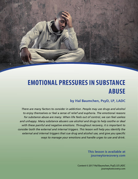 Emotional Pressures in Substance Abuse