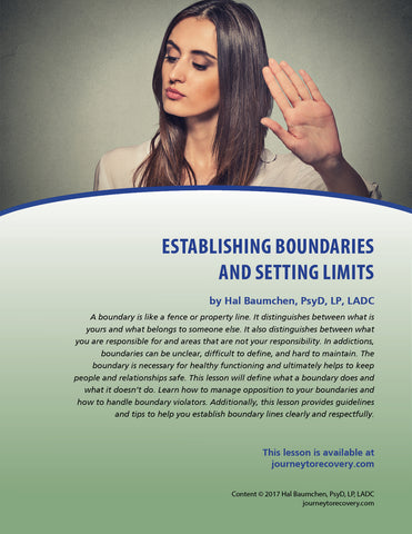 Establishing Boundaries and Setting Limits