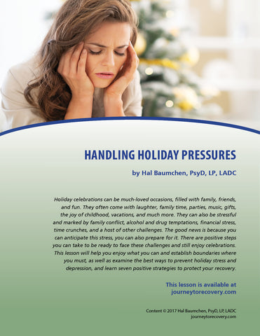 Handling Holiday Pressures
