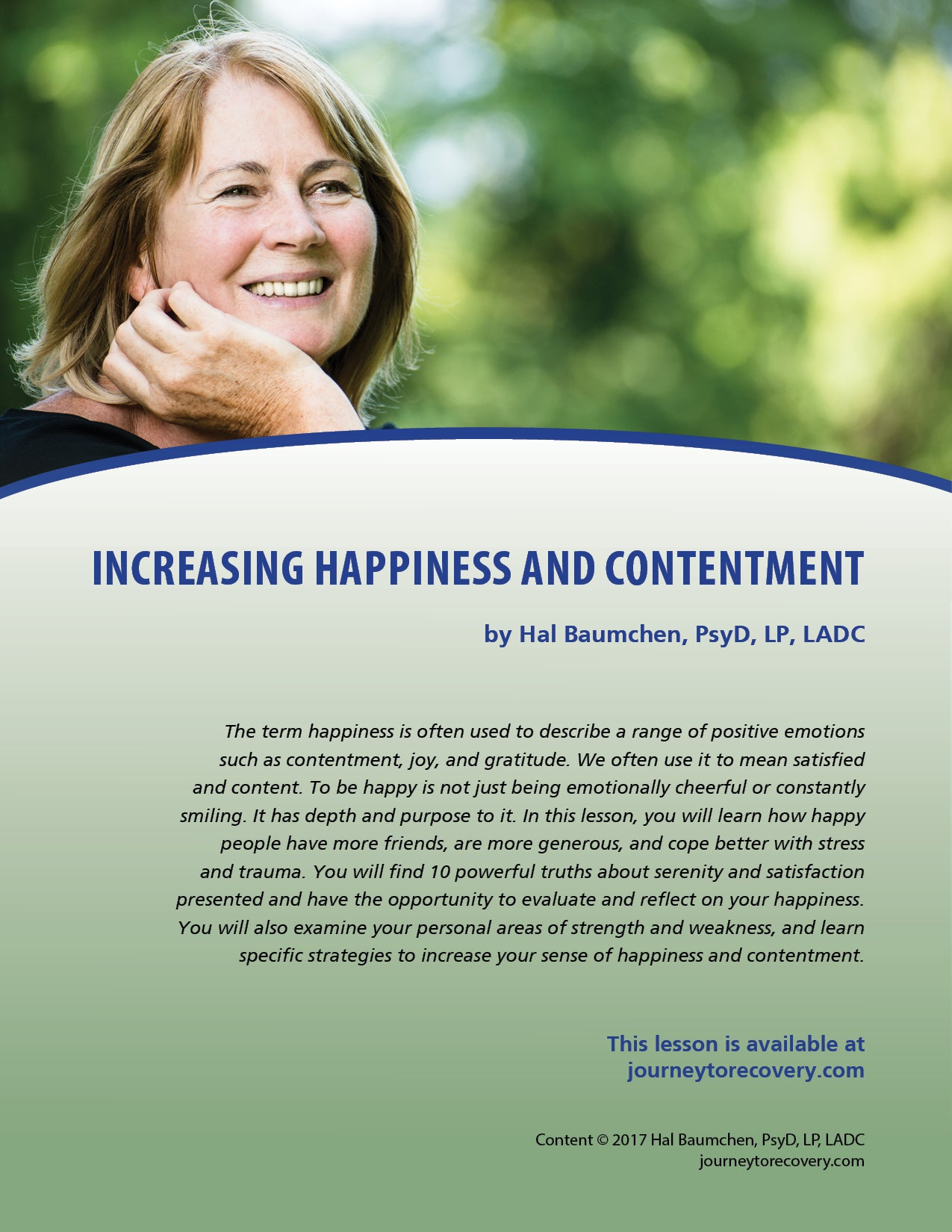 Increasing Happiness and Contentment