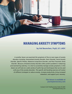 Managing Anxiety Symptoms