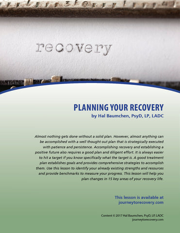 Planning Your Recovery