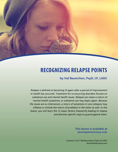 Recognizing Relapse Points
