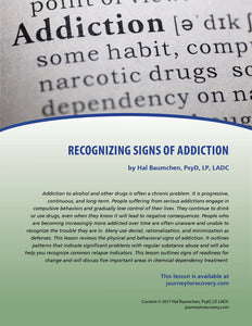 Recognizing Signs of Addiction